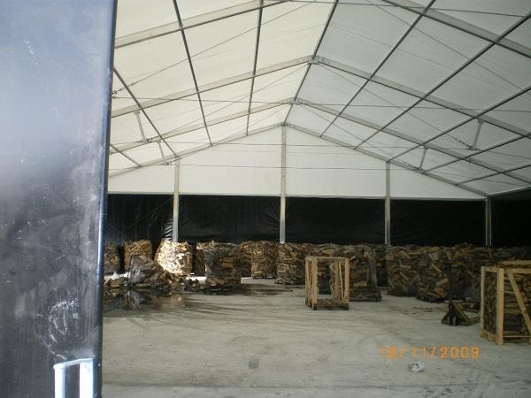 Namiot z węglem